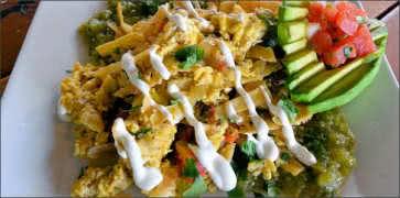Scrambled Eggs Migas with Salsa Verde