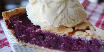 Grape & Apple Pie Recipe — Dishmaps