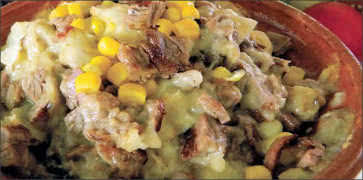 Loaded Baked Potato with Beef and Corn