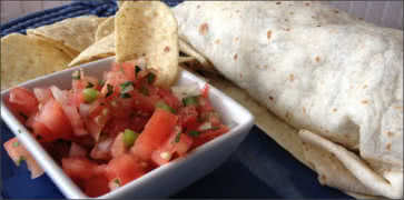 Burrito and Salsa
