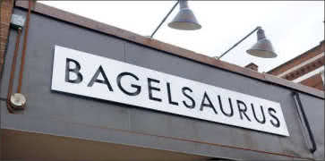 Bagelsaurus in Cambridge
