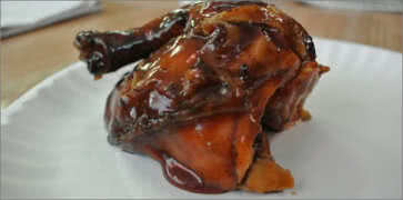 Barbecued Cornish Hens