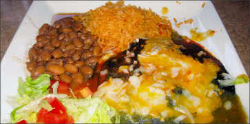 Blue Corn Cheese Enchiladas