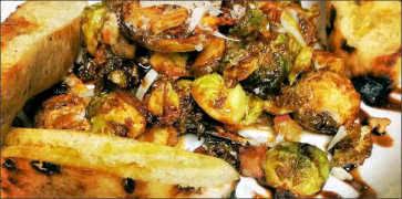 Pan Roasted Brussel Sprouts