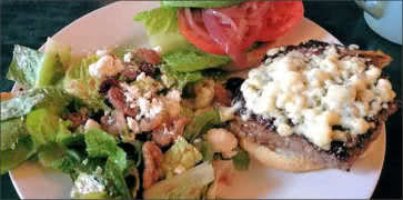 Sirloin Burger with Salad