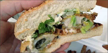 Chicken Fried Oyster Sandwich