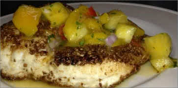 Coriander Crusted Halibut