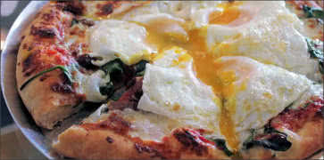 Runny Egg Pizza