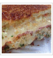 Angry Crab Melt at Grilled Cheese and Crab Cake Co