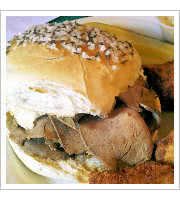 Beef on Weck at Blackthorn Restaurant and Pub