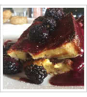 Blackberry Custard French Toast at Wilma & Friedas Cafe