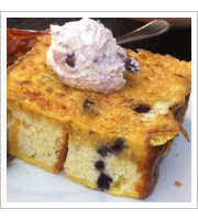 Blueberry French Toast at Chaps Coffee Co
