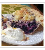 Blueberry Goat Cheese Pie at Three Sisters Cafe