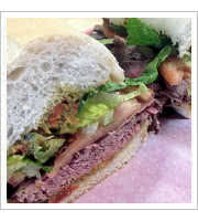 Brasato Sandwich at The Italian Corner Restaurant
