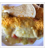 Breakfast Burrito at Mountain Shadows