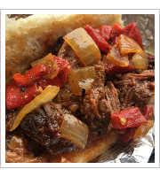 Burnt Ends BBQ Sandwich at Ray Rays Hog Pit