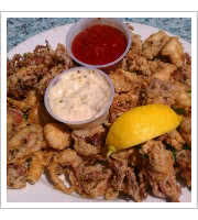 Fried Calamari at Aldos Harbor Restaurant