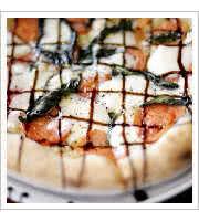 Caprese Pizza at Johnny Rads Pizzeria Tavern