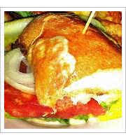 Cheese Sub Sandwich at Dots Back Inn