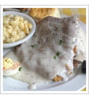 Chicken Fried Steak at Pauls Coffee Shop