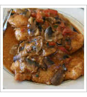 Chicken Marsala at Roccos Cafe