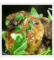 Chicken Marsala Meatballs at The Meatball Stoppe