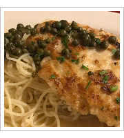 Chicken Piccata at Mrs. Robinos