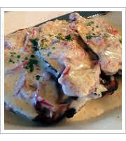 Chipped Beef on Toast at Industrial Cafe and Saloon