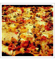 Clam and Bacon Pizza at Joe Squared