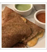 Green Chili Dosa at Paper Dosa