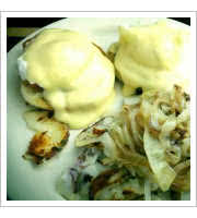Eggs Benedict at Hanks Creekside Restaurant