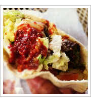 Falafel Sandwich at Falafels Drive-In