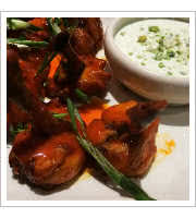 Fireball Whiskey Wings at Guy Fieris Vegas Kitchen Bar