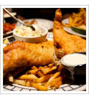 Fish and Chips at Studio Diner
