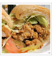 Fried Oyster Po Boy at Parasols Bar