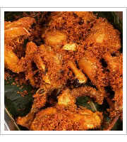 Indonesian Ginger Fried Chicken at Hardena Waroeng Surabaya
