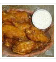 Jumbo Hot Wings at Harolds Cafe