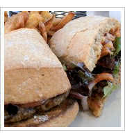 Latin Spiced Lamb Burger at The Cove
