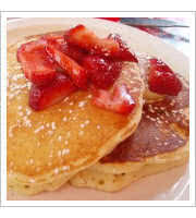 Lemon Ricotta Pancakes at Harrys Roadhouse