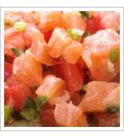 Lomi Lomi Salmon at Bobbys Hawaiian Style Restaurant
