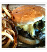 Onion Burger at Nics Grill