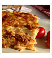Pastitsio at Greek Corner