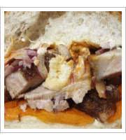 Peruvian Chicharron Sandwich at J28 Sandwich Bar