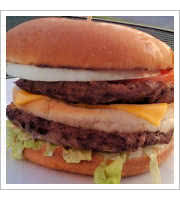 Poor Boy Burger at Parkette Drive-In