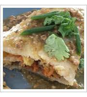 Pork Chili Breakfast Burrito at Just BE Kitchen
