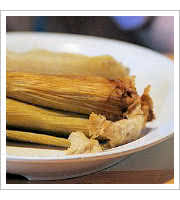 Pork Tamales at Moms Tamales