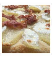 Potato and Prosciutto Pizza at Forno Rosso Pizzeria