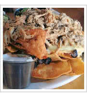 Pulled Pork Nachos at Sidecar Bar and Grille