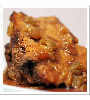 Pumpkin Bread Pudding at Sammys Food Service and Deli