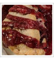 Raspberry and White Chocolate Scone
